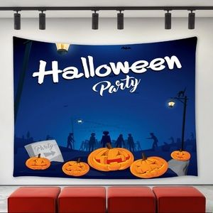 """Halloween Party Wall Tapestry 40x60"""" new"""